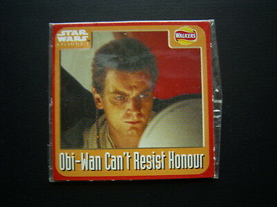 Walkers 1999 Star Wars Episode One 1 Scratch Card Sealed  Obi-Wan (E11)