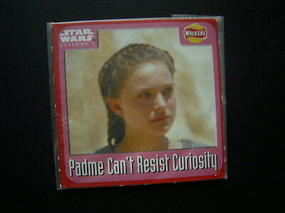 Walkers 1999 Star Wars Episode One 1 Scratch Card Sealed  Padme no2 (E11)