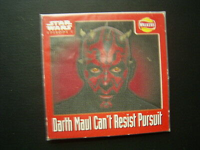 Walkers 1999 Star Wars Episode One 1 Scratch Card Sealed  Darth Maul (E11)