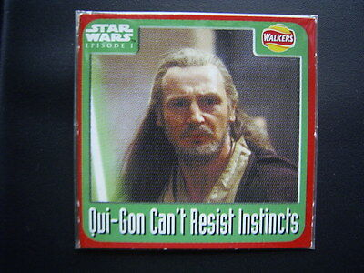 Walkers 1999 Star Wars Episode One 1 Scratch Card Sealed  Qui-Gon(E11)