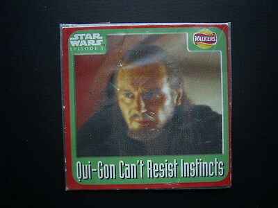Walkers 1999 Star Wars Episode One 1 Scratch Card Sealed  Qui-Gon  NO3 (E11)