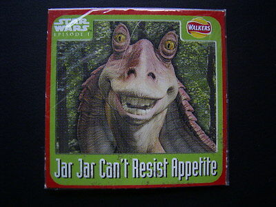 Walkers 1999 Star Wars Episode One 1 Scratch Card Sealed  Jar Jar (E11)