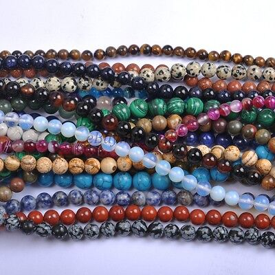 1Strand Wholesale Natural Gemstone Round Spacer Loose Bead 4MM 6MM 8MM 10MM 12MM