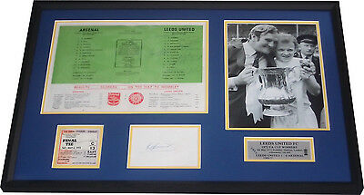 Leeds United 1972 FA Cup Signed x 12 Framed Programme Billy Bremner Paul Madeley