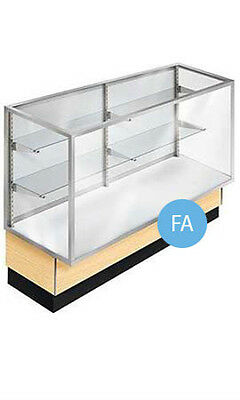"""New Retails Full Vision Metal Framed 48"""" Maple Display Case 38""""H x 20""""D x 48""""L"""