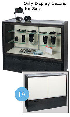 """New 2 Rows adjustable Charcoal Black Full Vision Display Case 38""""H x 18""""D x 48""""L"""