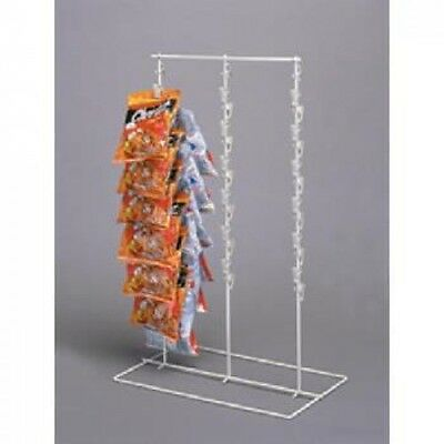 Retail Triple Strip 39 Clips Chips, Candy & Snack Counter Display Rack Almond