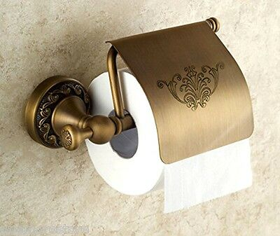 Toilet Paper Holder Wall Mounted Antique Brass Kitchen Bathroom Fixtures Decor