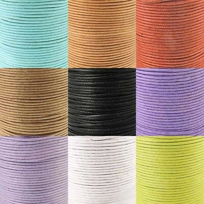 2mm Waxed Cotton Cord - Choose From 15 Colours x 5 Metres