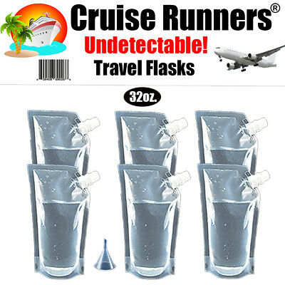Cruise flask kit 7 Pc. 32oz Runners Rum Alcohol Liquor Smuggle Sneak Booze Ship
