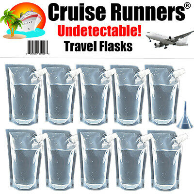 Cruise Flask Kit 32oz Runners Rum Alcohol Liquor Smuggle Sneak Booze Bags Hide