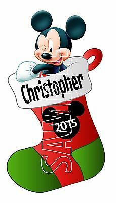 Personalized Disney Mickey Mouse Christmas Stocking Cruise Stateroom Magnet