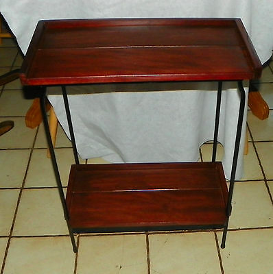 Cherry and Black Iron Entry Table / Side Table  (T475)