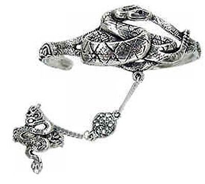 Pewter Celtic Snake - Serpent 'Slave' Bracelet  - Adjustable - Free Shipping