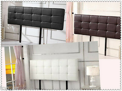 56cm H Black/Brown/White PU Leather Tufted Bed Head/Headboard for Ensemble Base