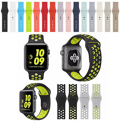 Genuine Silicone Rubber Strap Bracelet Sport Band Replacement for Apple Watch
