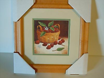 Longaberger Basket with Fruit Framed Wall Print Richard Cowdrey New in Box