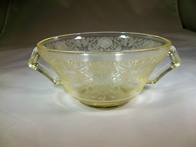 "HAZEL ATLAS CO. FLORENTINE #2 or POPPY YELLOW 4-3/4"" DIAMETER CREAM SOUP BOWL!"