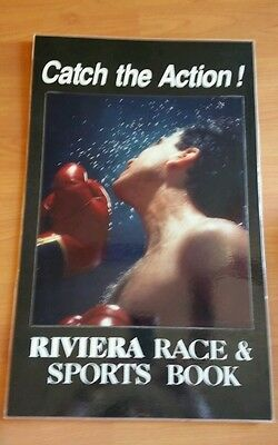 "Riviera hotel & Casino Race & Sports book Hard Poster 26""X16"""