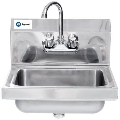 Hand Sink Stainless Steel Wall Hung - 12 X 12 NSF - L&J