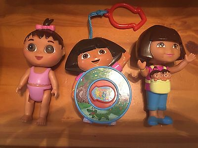 Lot Of 3 Dora The Explorer Dora And Babies Toys Figures See N Say GUC