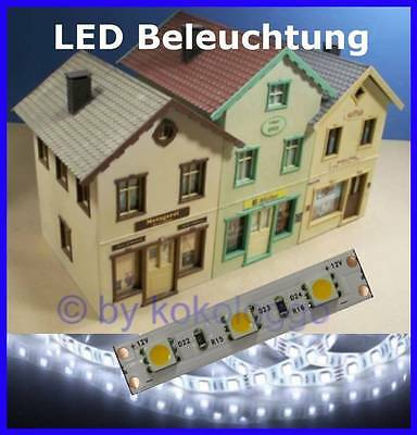 S545 10 Pcs LED Interior lighting 5cm WHITE ULTRA LIGHT for Houses G Gauge + 1 +