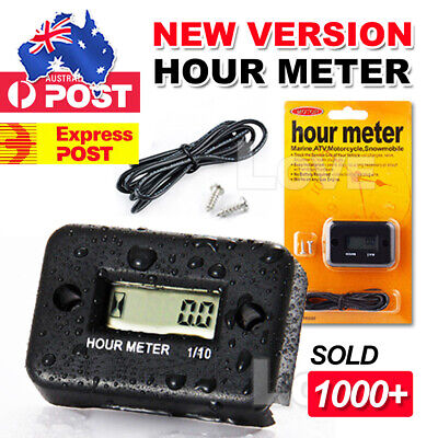 Inductive Waterproof Hour Meter Dirt Ski Gas Engine For Marine ATV Motorcycle AU