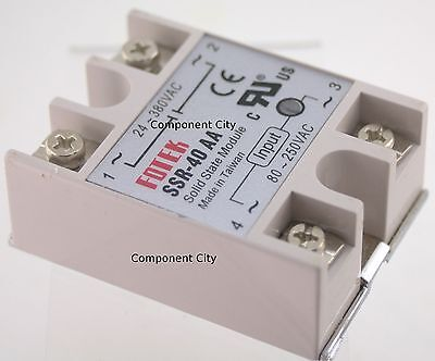 SSR-40AA input 80-250VAC Output 24-380VAC 40A Solid State Relay Module