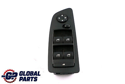 BMW 1 SERIES E87 E87N Switch window lifter driver's side right BLACK 61319155496