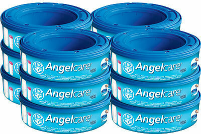 Angelcare Nappy Disposal System - Improved Nappy Bin Refill Cassettes 12-pack