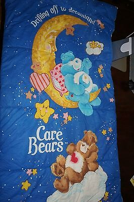 Antique Bear Attack Sleeping Bag Pict Vintage 1984 Care Bears Sleeping Bag American Greetings Bedtime