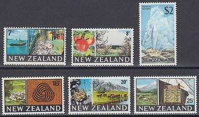 New Zealand 1968 ** Mi.492/97 Freimarken Definitives Geysir [sq6929]