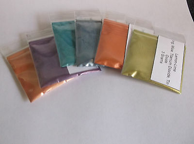 Natural Cosmetic Grade Mica Powder Set of 6 Mixed  Soap,Makeup,Crafts,Resin
