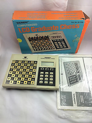 Vintage Tandy Computerized LCD Graduate Chess Game Missing White Bishop