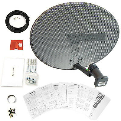 Satgear MK4 Satellite Dish Kit with Quad LNB and 30metres of twin cable