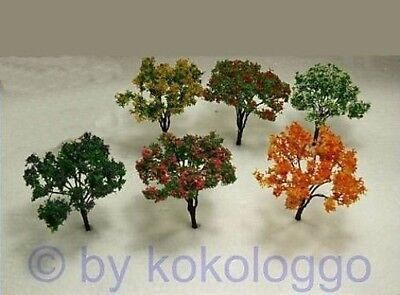 X24 Set Trees 14 Pieces Deciduous trees / Shrubs flowering 6cm