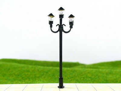 S156 - Set 10 pcs Streetlights Nostalgic 3 Lights 5,5cm Parking Lights