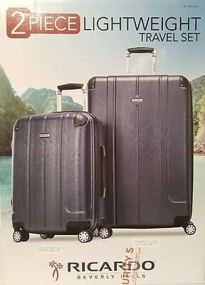 Ricardo Beverly Hills Hardside Spinner Luggage Set Travel Bags 2 Pcs Suitcase