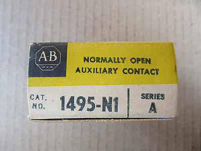 Allen Bradley 1495-N1 Auxiliary Contact N.O. NEW!!! Free Shipping