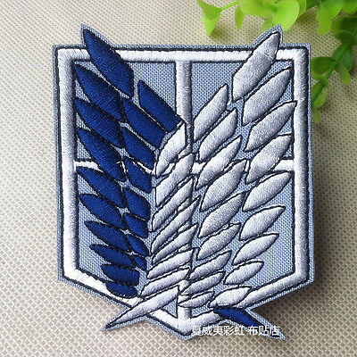 Attack on Titan Scout Regiment Embroidery Badge Custom Patch