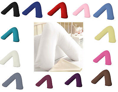 Plain Polycotton Back & Neck Support V Shaped Pillowcase Orthopedic//Pregnency