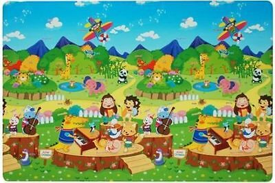 Dwinguler Kid's Playmat Baby Rugs Kids Floor Mat Soft Flooring Animal Orchestra