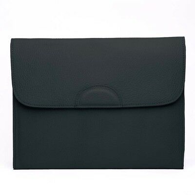 NEW Graphic Image Black Leather Portfolio Case