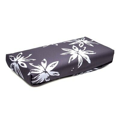 NEW ART Ironing Board Cover White Flowers on Charcoal
