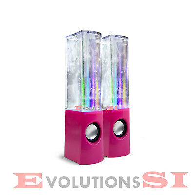 2 X Altavoz Dancing Water Speakers Con Agua Y Led Para Pc Movil Mp3 Ipod Ipad