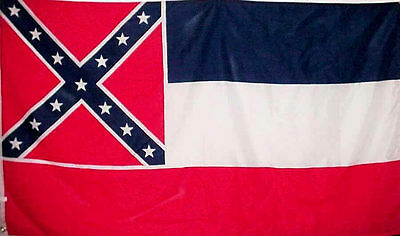 Mississippi State Flag 3x5 Printed Polyester Confederate Rebel FREE SHIPPING!