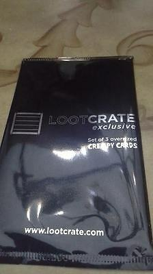 EXCLUSIVE NYCC 2015 Loot Crate Blackest Night Creepy Cards Collectors