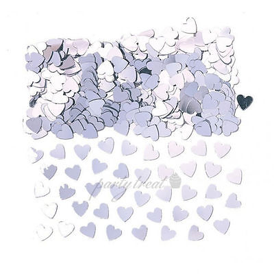 Silver Heart Confetti Foil Party Supplies Wedding Table Scatters Decorations