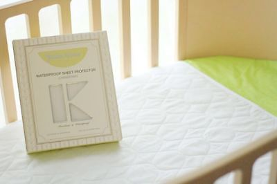 KIDZ KISS Nursery Essentials Waterproof Sheet Protector [Fits Cot & Toddler Bed]
