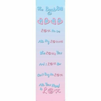 Love Songs By The Beatles Card Bookmark Pink Blue Hearts Gift Fan 100% Official